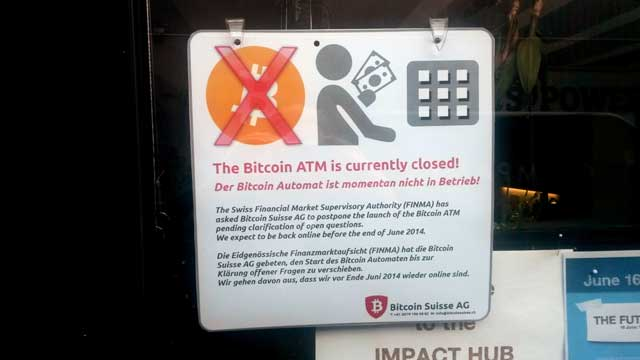 Bitcoin ATM Closed Down Impact Hub Zürich