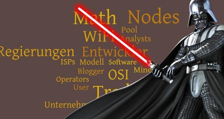 Bitcoin und Darth Vader aus Star Wars