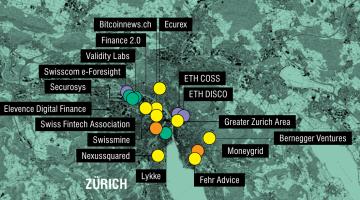 Schweizer Bitcoin Karte