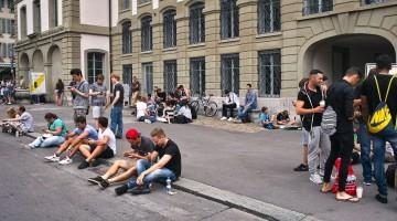 Pokémon Go Spieler in Bern, Schweiz