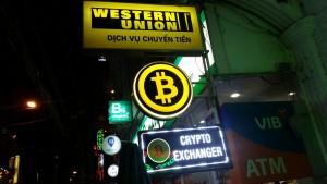 Bitcoin in HCMC (auch bekannt unter dem Namen Saigon), Vietnam