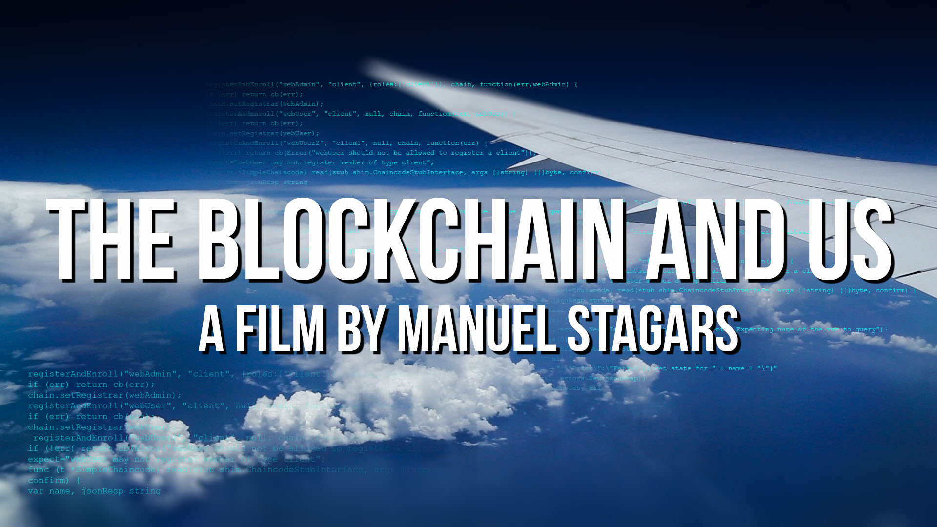 The Blockchain and Us: Film poster