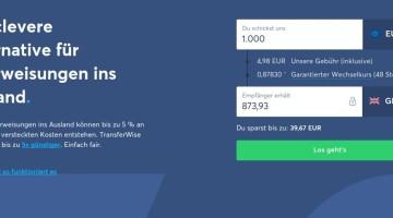 Geld ins Ausland überweisen: TransferWise