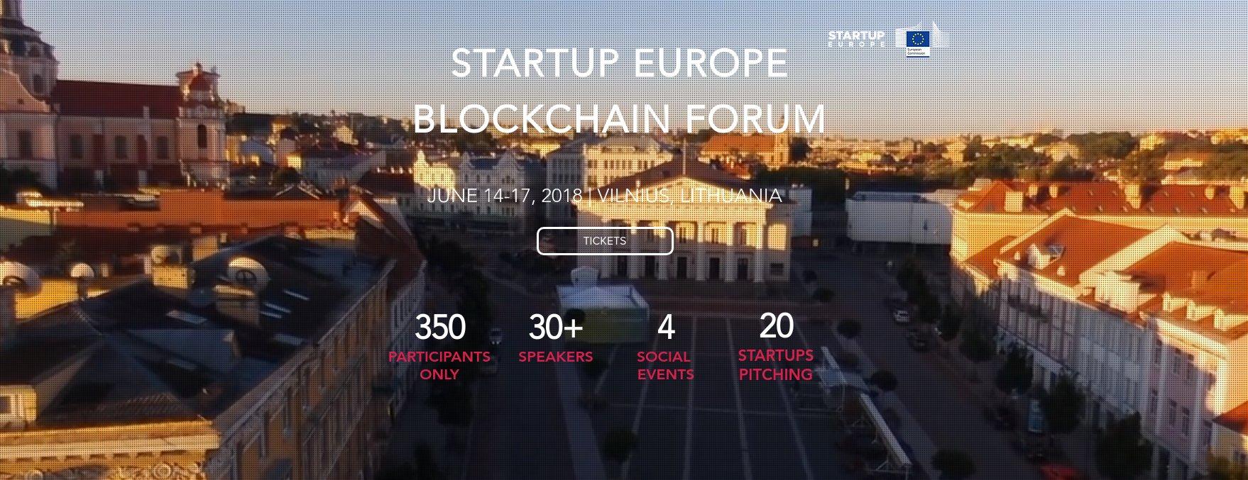 Startup Europe Blocckhain Forum Vilnius Litauen