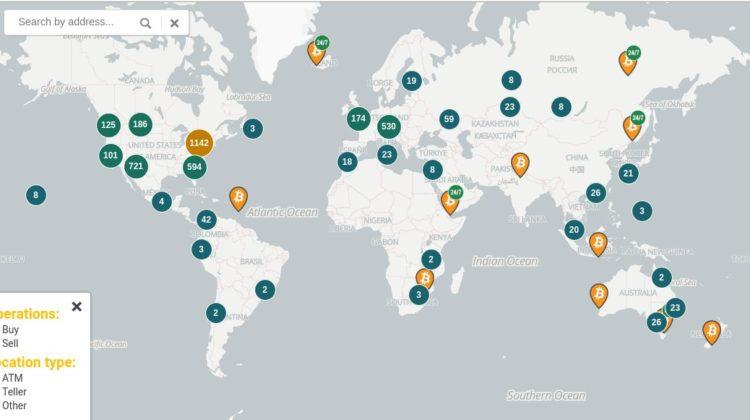 Bitcoin ATM Standorte Weltweit