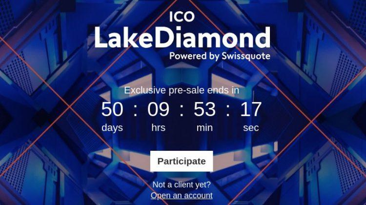 Swissquote: LakeDiamond ICO