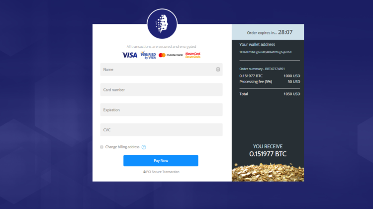 Kreditkarten Details angeben