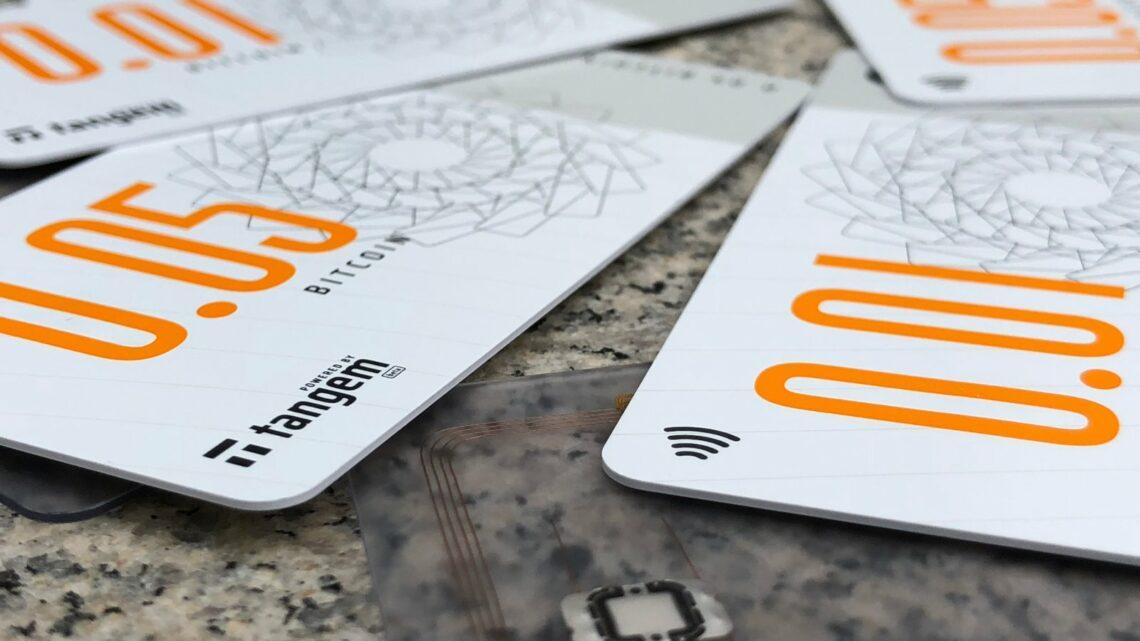 Bitcoin (Bank)Note aus der Druckerei des Schweizer Startups Tangem