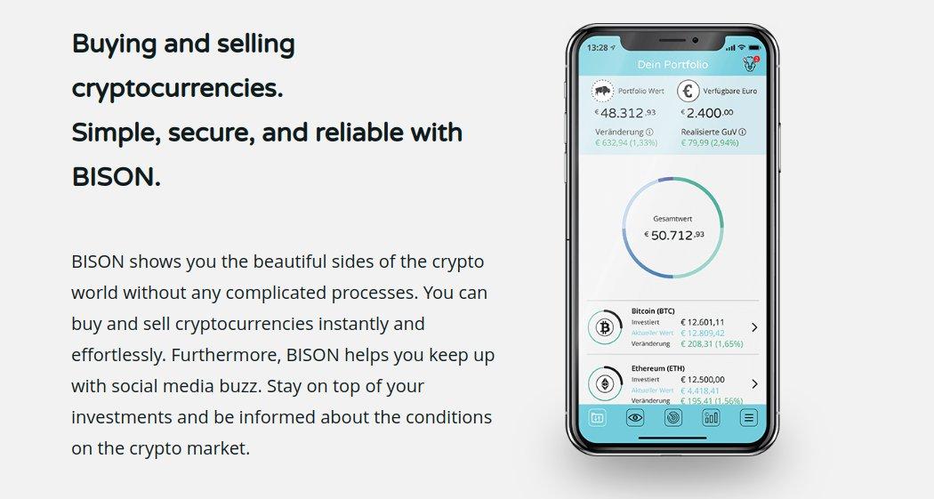 BISON bietet einfachen, schnellen und sicheren Handel mit KryptowährungenBISON bietet einfachen, schnellen und sicheren Handel mit Kryptowährungen