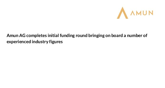 Graham Tuckwell, investiert in das Schweizer Bitcoin-Unternehmen Amun.