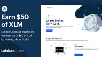 Verdiene bis zu 50 USD in Stellar (XLM)