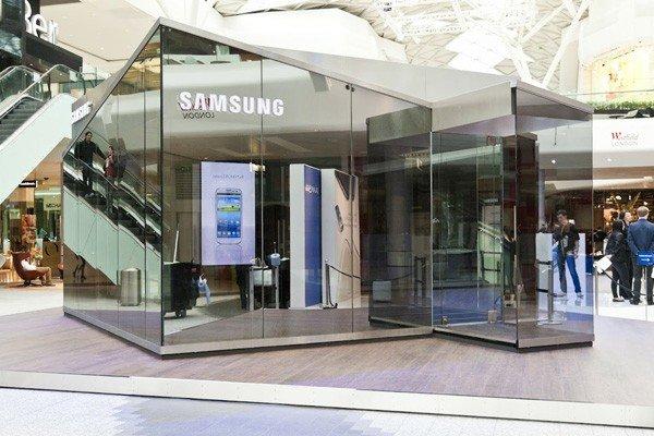 Samsung Galaxy Fold kann bald im Samsung Pop Up Store getestet werden. Foto: Visualisierung (c) Samsung
