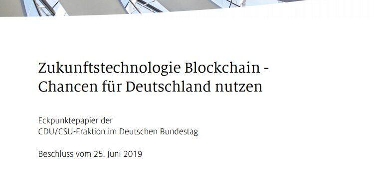 """Gemäss dem CDU/CSU-Positionspapier können elektrische Netze durch die Technologie auf Effizienz und Energieersparnis getrimmt werden. Darüber hinaus lassen sich mit der Blockchain Identitäten sicher identifizieren. Geschieht dies unter staatlicher Aufsicht, ergibt sich daraus eine """"Bundes-Chain""""."""