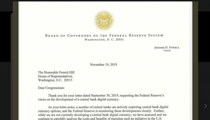 Zentralbank der USA bestätigt Forschung und Tests an eigener Digitalwährung
