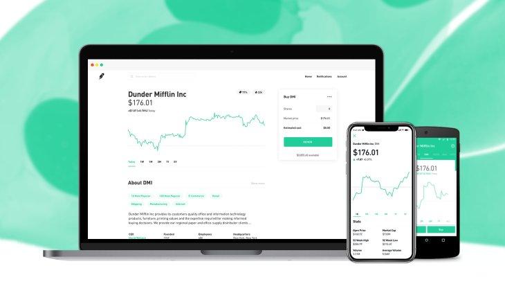 RobinHood: Das US-Start-up ermöglicht mit seiner App den kostenloses Trading und treibt damit die Digitalisierung des Börsenhanels voran.