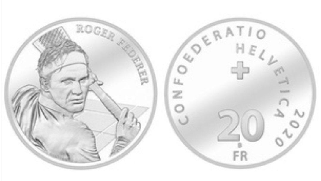 Zusätzliche 40'000 Stück: Grosses Interesse an Roger-Federer-Münze