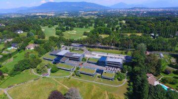 Sitz des WEF in Cologny bei Genf