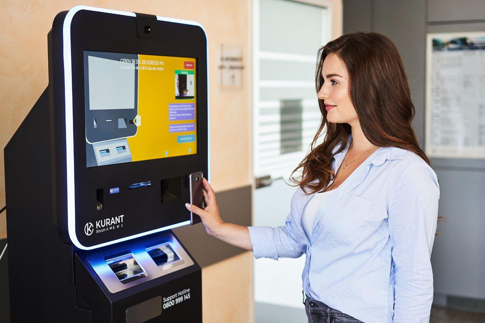 Kurant zweiweg Bitcoin-Wechselautomat