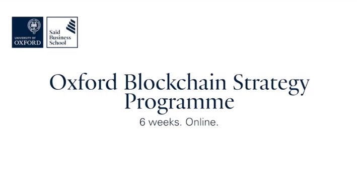 Oxford Blockchain Strategy Programme