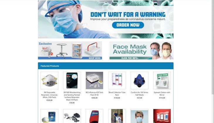 """Screenshot des Fake-Shops """"pharmacyfirstgmbh.com"""" Beispiel, wie der Fake-Shops """"pharmacyfirstgmbh.com"""" im Internet dargestellt wird."""