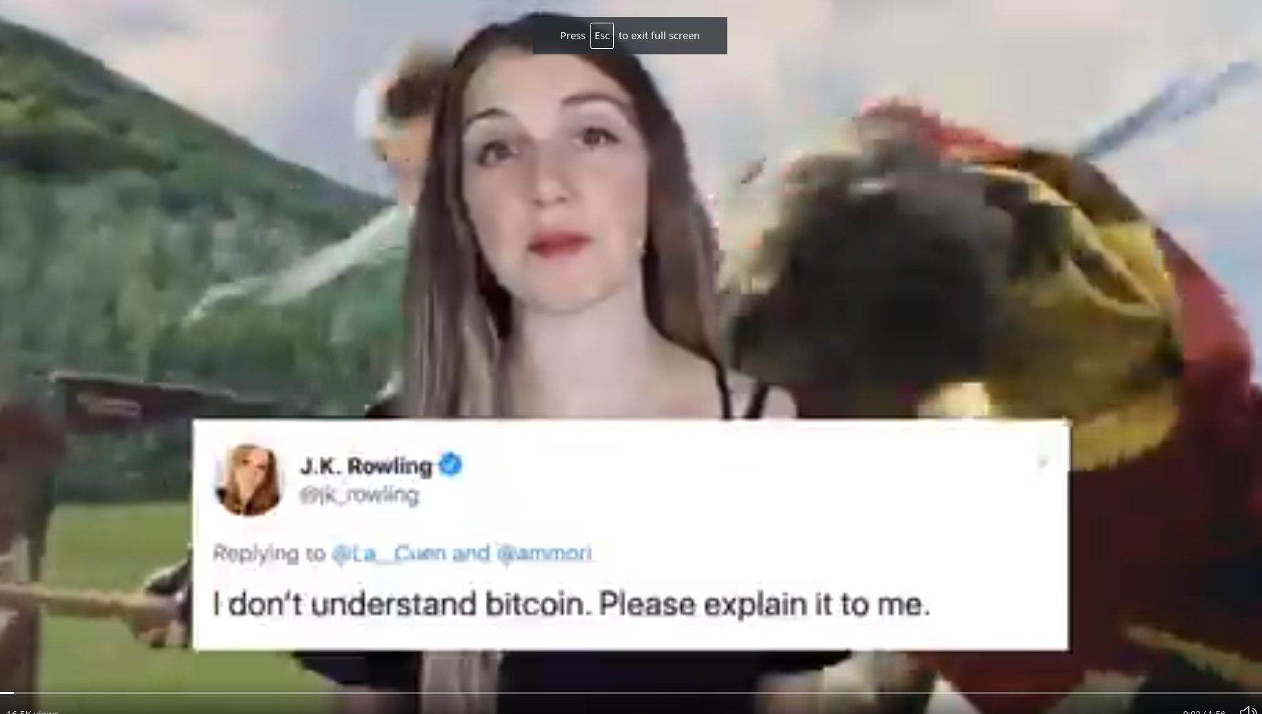 JK Rowling Bitcoin