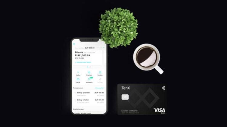 Die TenX Visa-Karte mit App