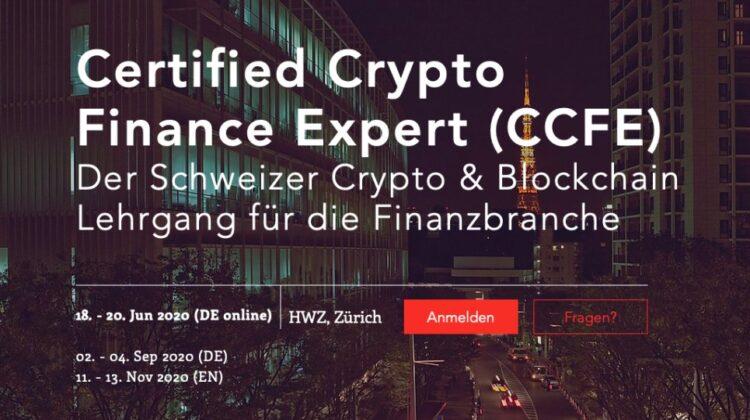 Certified Crypto Finance Expert (CCFE) Der Schweizer Crypto & Blockchain Lehrgang für die Finanzbranche