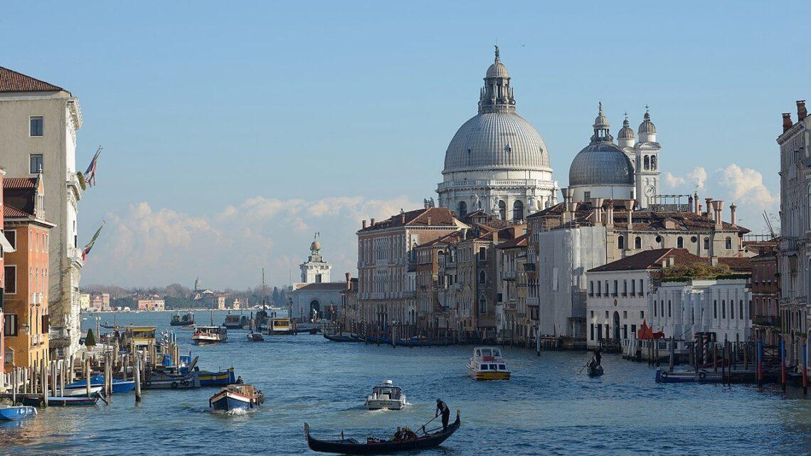 Canal Grande von der Ponte dell'Accademia aus gesehen
