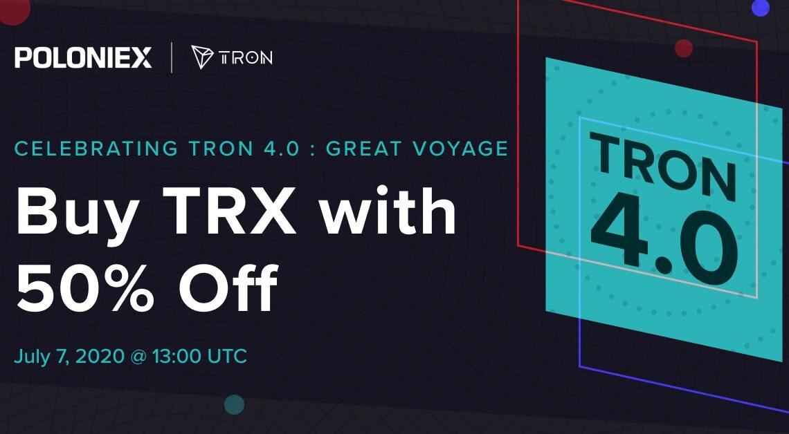 Poloniex: Win up to a 50% TRX discount