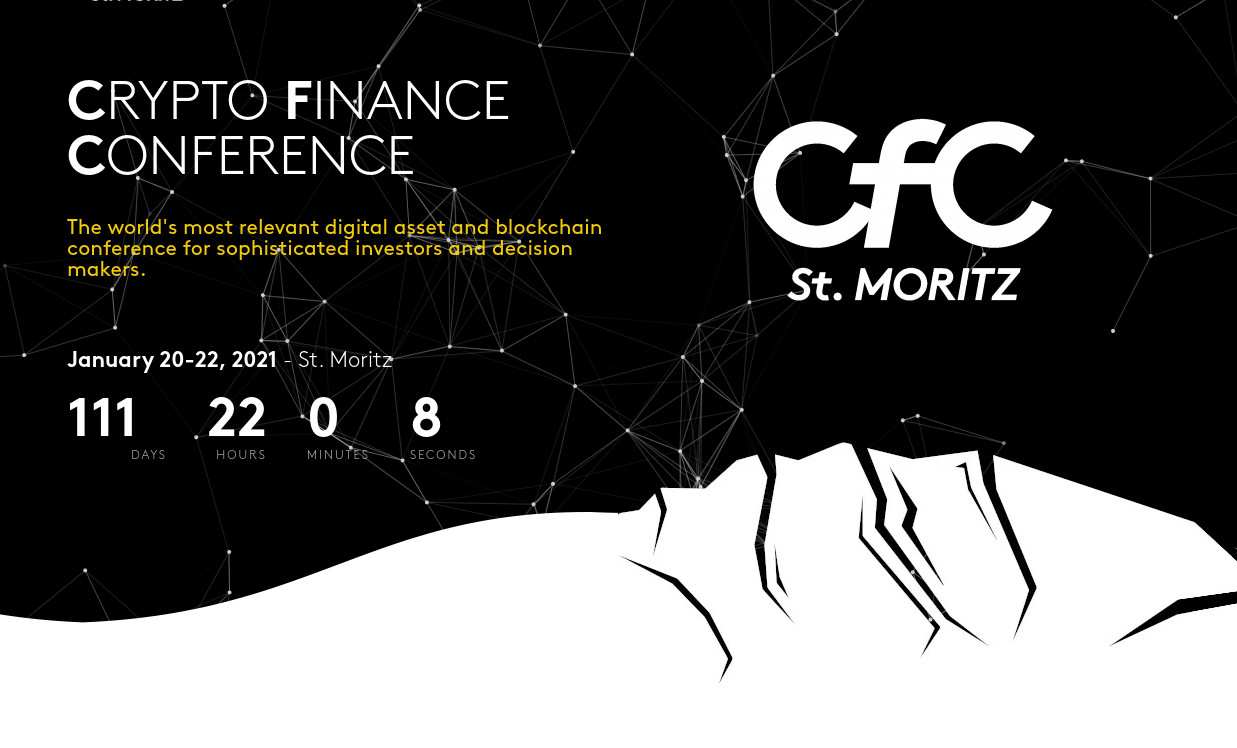 Crypto Finance Conference Returns to St. Moritz in January 2021 with Speakers from Winklevoss Capital, Swiss National Bank, Ledger, the European Parliament, and More