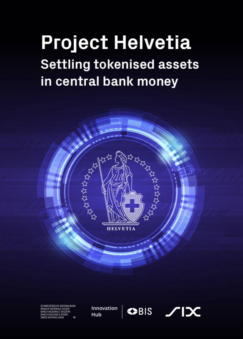Project Helvetia, a joint proof-of-concept experiment between the Bank for International Settlements' Innovation Hub Swiss Centre, the Swiss National Bank and the financial infrastructure operator SIX Group, successfully shows the feasibility of integrating tokenised digital assets and central bank money.