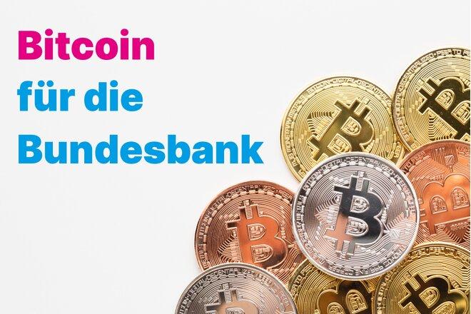 """Eine Petition verlangt, dass die Deutsche Bundesbank eine """"strategische Bitcoin-Position"""" aufbaut."""