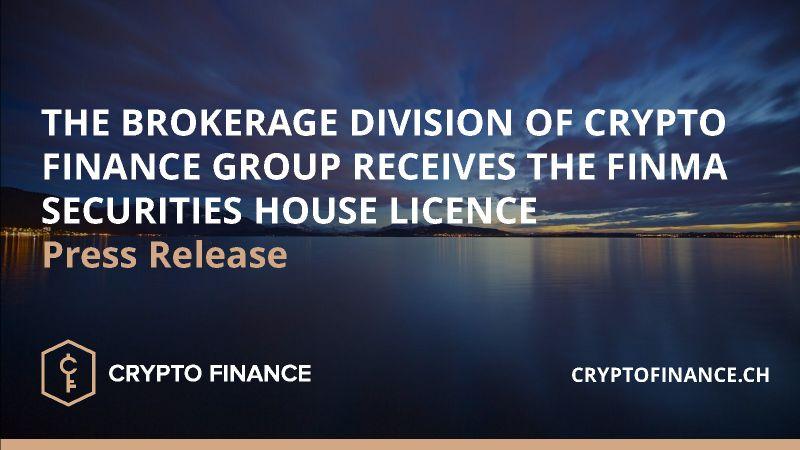Crypto Finance: Brokerage FINMA Licence