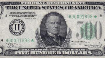 500er Dollarnote