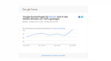 Keyword Bitcoin: Suchanfragen im April um 100% gestiegen