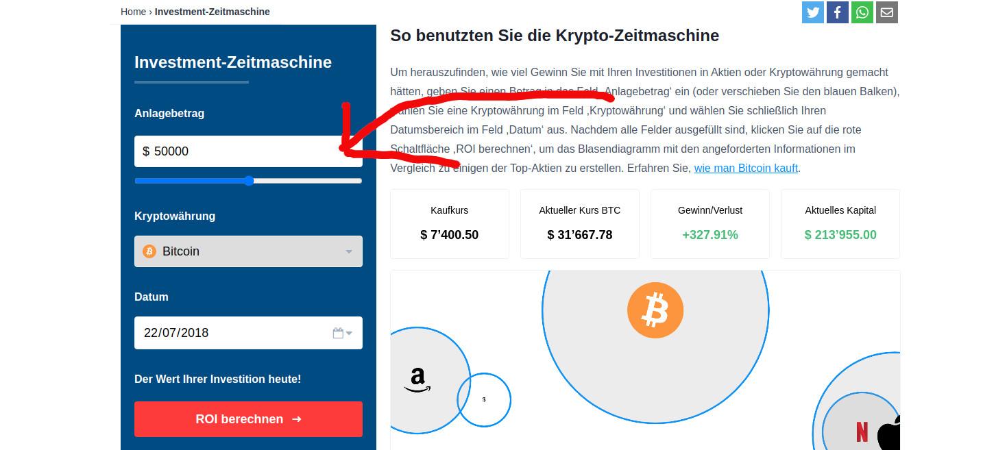 Bitcoin ROI-Gewinnrechner