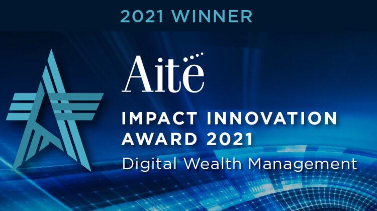 🏆 SEBA Bank wins the 2021 Digital Wealth Management Impact Innovation Award