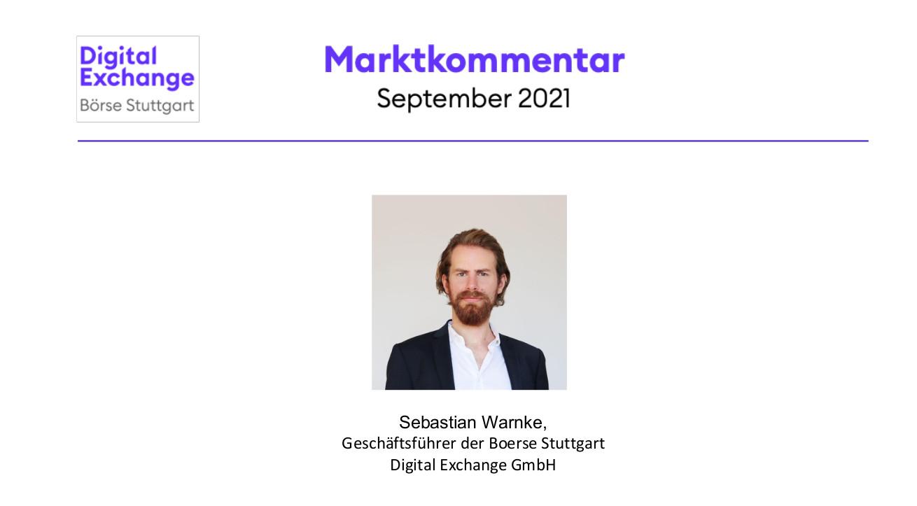 BSDEX Marktkommentar vom 14. September 2021
