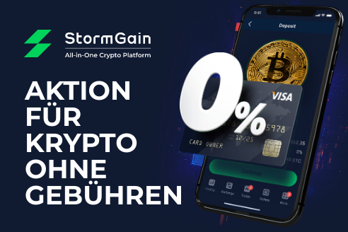 Stormgain Bitcoin Handel